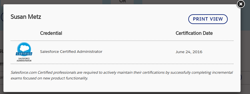 verify a salesforce credential